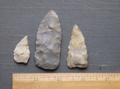 3 Native American Triangle Points