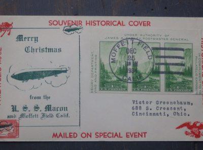 1934 U.S.S. Macon Airship Souvenir Historical Cover