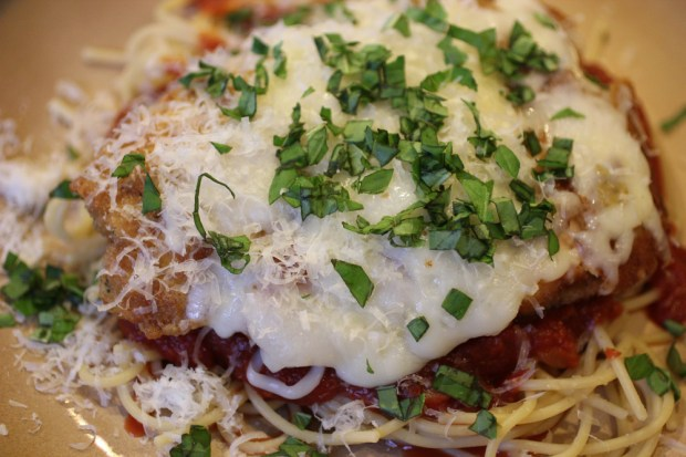Chicken Parmesan with Slow Cooked Marinara Sauce