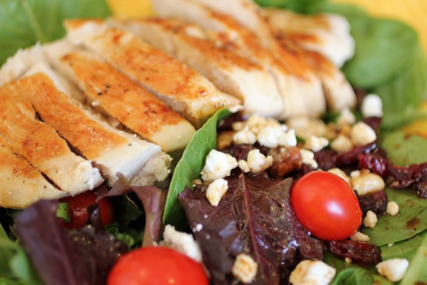 Grilled Chicken with Goat Cheese