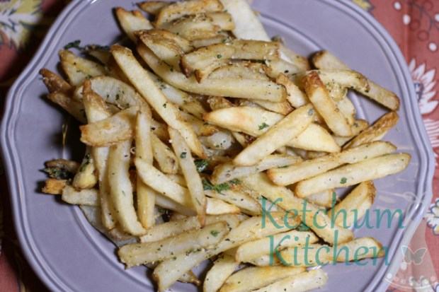 Baked Truffle Fries w/ Fresh Parsley and Parmesan Cheese