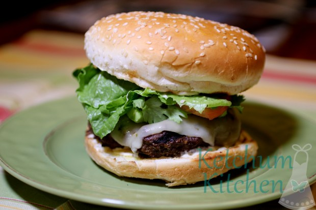 Spicy Burgers w/ Chipotle Mayo, Avocado, Cilantro and Pepper Jack Cheese