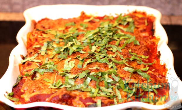 baked rotini meat sauce