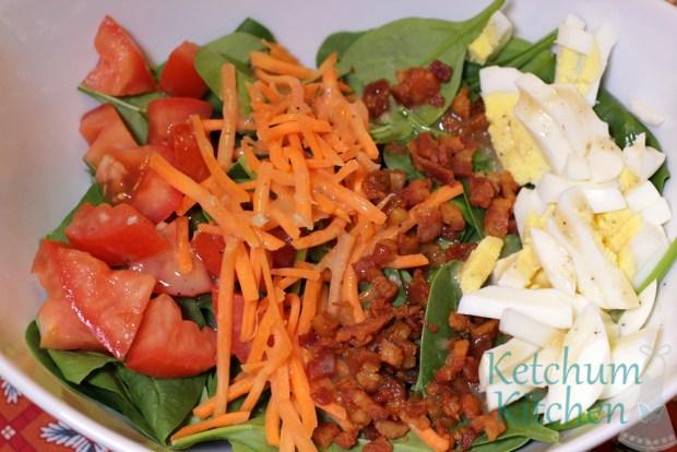 Spinach Salad with Homemade Dijon Vinaigrette