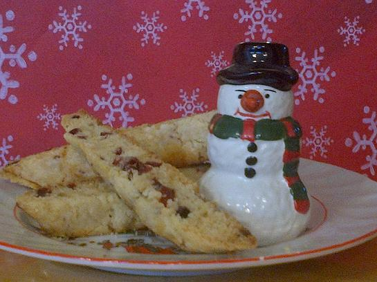 Cranberry Ginger White Chocolate Biscotti