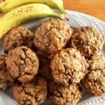 Oatmeal Peanut Butter Banana Muffins
