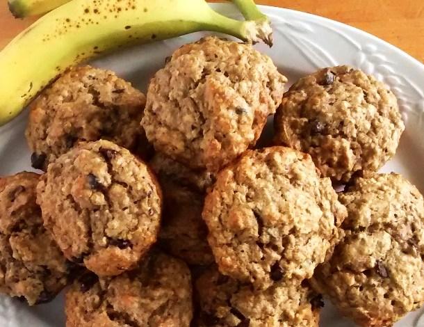 Peanut Butter Banana Oatmeal Muffins