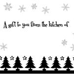 Free Printable Gift Tags for Your Christmas Baking