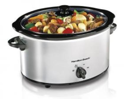 classic chrome slow cooker from hamilton beach