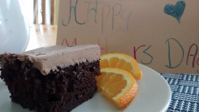 Chocolate Orange Zucchini Cake