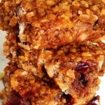 Pumpkin Oat Power Bars with Cranberries and White Chocolate