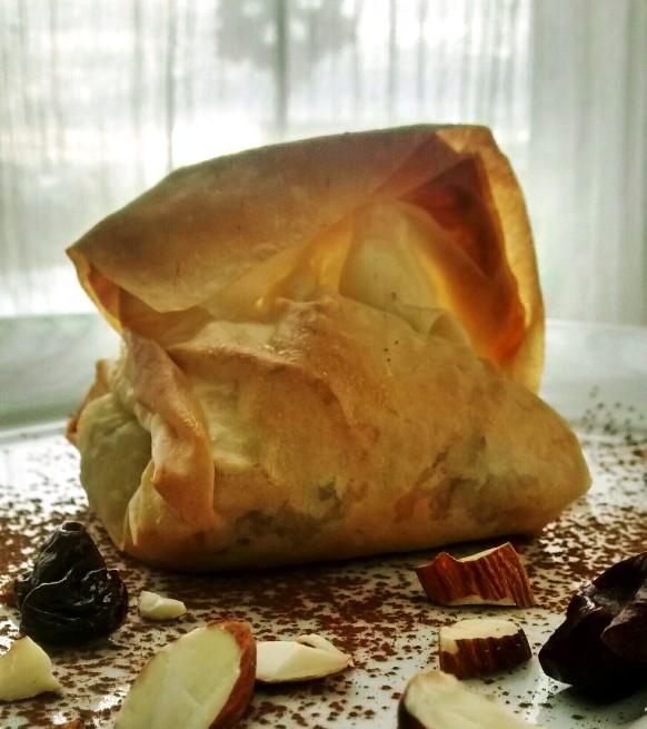 Chocolate Cherry Almond Brie Bundles