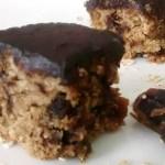 Oatmeal Date Cake with Chocolate Glaze