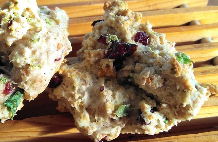 Cranberry Jalapeno Drop Scones
