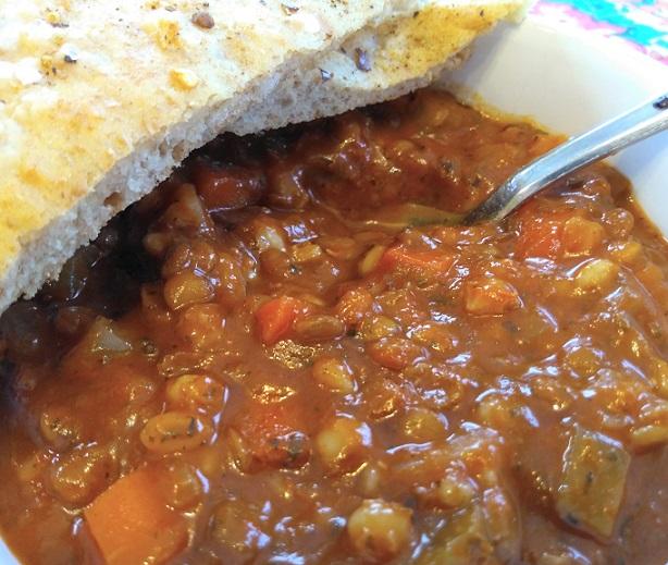 Lentil Barley Soup (vegan)