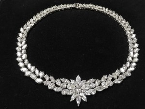 100 total carat diamond necklace