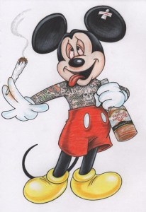 micky-mouse-smoking-and-drinking