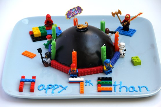 Ethan's 7th B-day Chocolate Lego Cake © KETMALA'S KITCHEN 2012-13