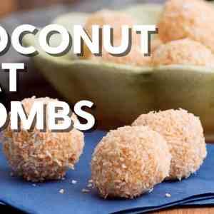 Coconut fat bombs · Keto snack!