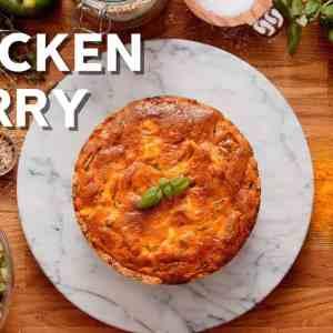 Keto chicken curry pie