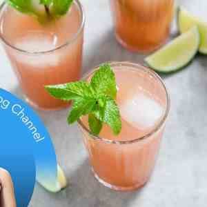 Low-Carb Watermelon, Lime & Mint Coolers