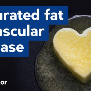 Saturated fat does NOT increase vascular disease