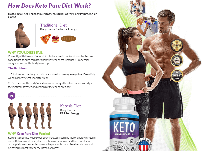how keto pure diet works?