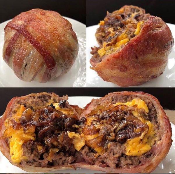 Keto Cheeseburger Ball