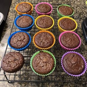 Chocolate Pound Cake in Muffin form