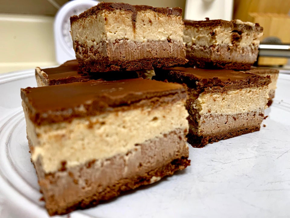 "Keto ""Reese's"" Cheesecake Squares"