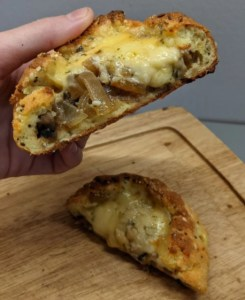 Keto mushroom onion stuffed bread