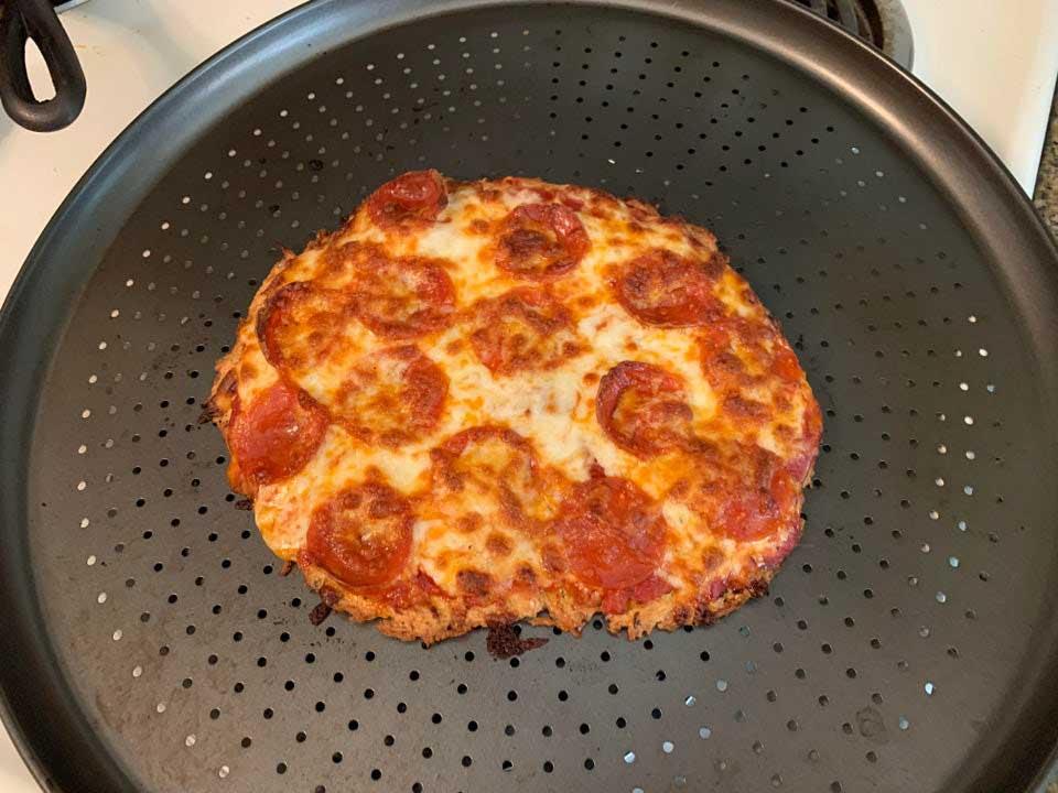 Homemade Chicken Crust Pizza
