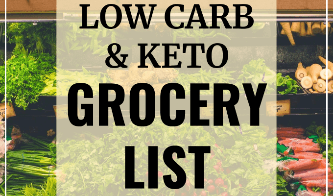 Updated KETO BEGINNER GROCERY LIST