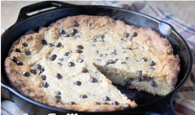 KETO CHOCOLATE CHIP SKILLET COOKIE (NUT FREE)