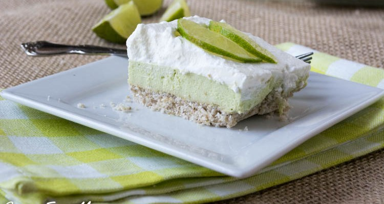 KETO SUGAR-FREE KEY LIME PIE BARS