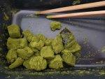 matcha green tea warabi mochi