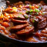 One Pot Tomato Sausage Casserole