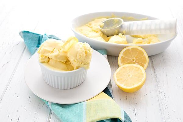 Keto Lemon Ice Cream