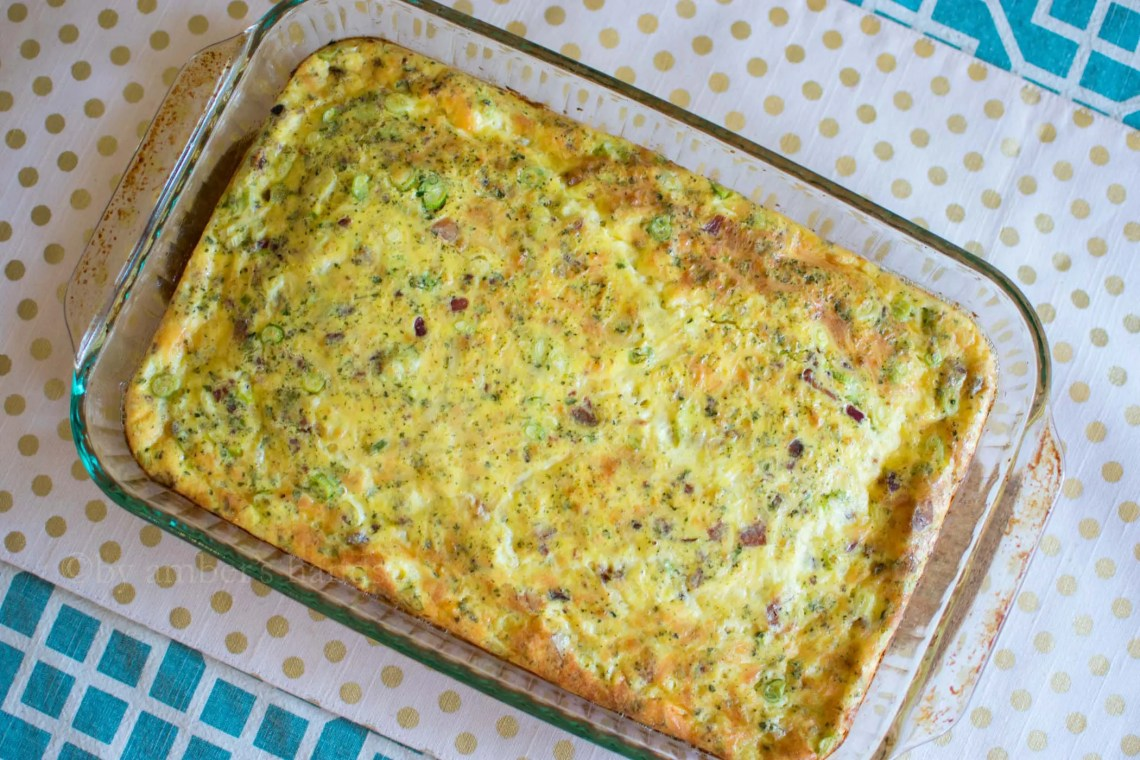 Easy Bacon Gruyere Egg Bake -keto cake walk-