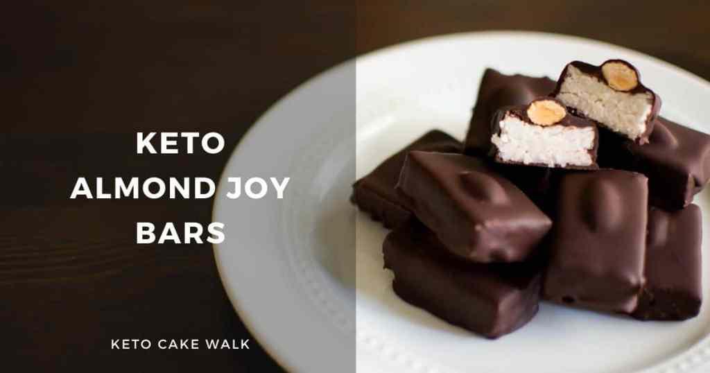 Keto Almond Joy Bars -keto cake walk-