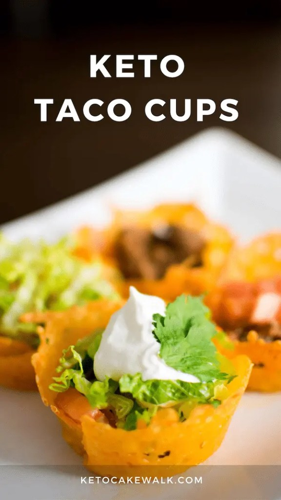 Keto Taco Cups are perfect for dinner or as an appetizer at your next party! They're SO easy but look impressive and taste amazing! #lowcarb #keto #dinner #appetizer #tacos #easy