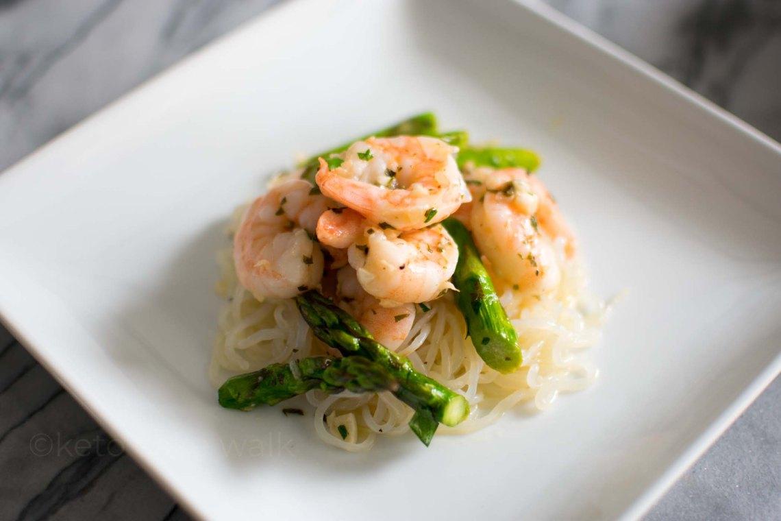 Shrimp and Asparagus Scampi Sheet Pan