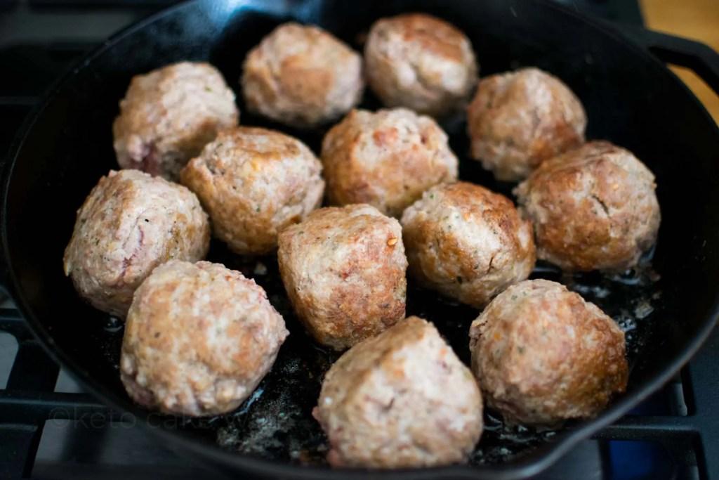 Keto Ricotta Meatballs -keto cake walk-
