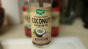 Nature's Way Always Liquid Coconut Premium Oil Savory Garlic flavor