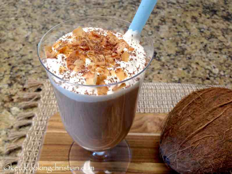 Toasted Coconut Protein Shake - Keto and Low Carb
