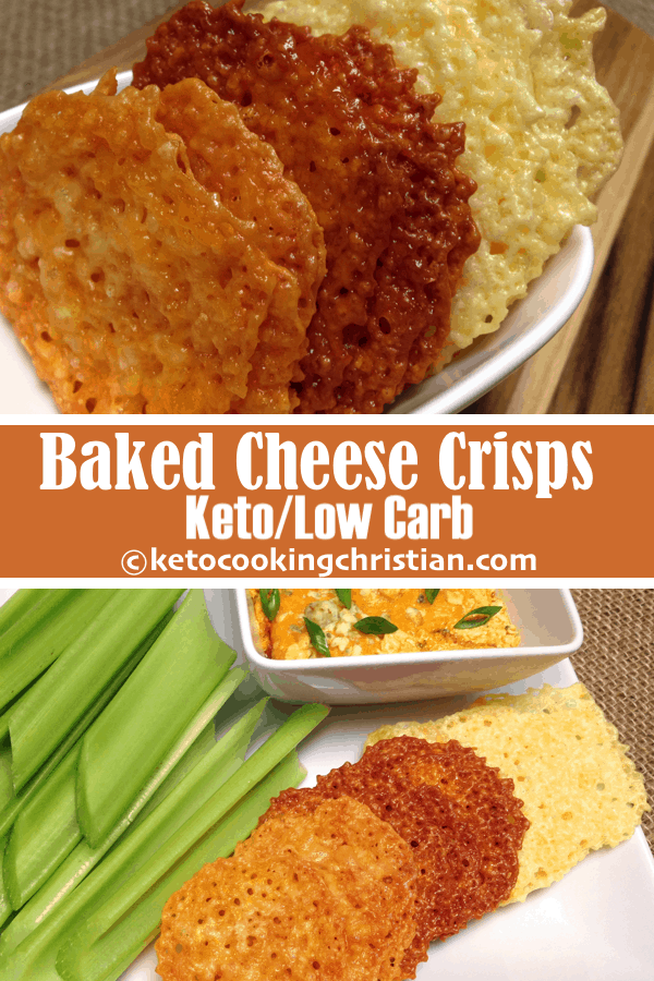 Baked Cheese Crisp Crackers - Keto and Low Carb