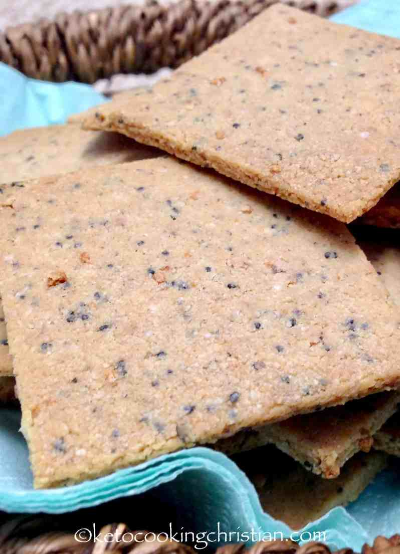 Homemade Everything Crackers - Keto, Low Carb and Gluten Free