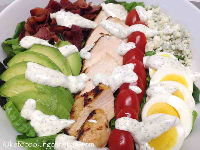 Classic Cobb Salad with Ranch Dressing – Keto and Low Carb