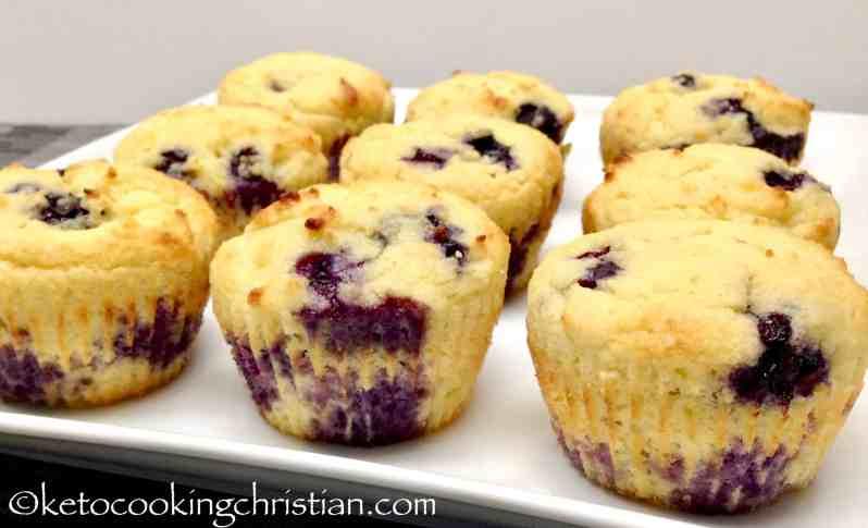 Blueberry Lemon Muffins - Keto, Low Carb & Gluten Free