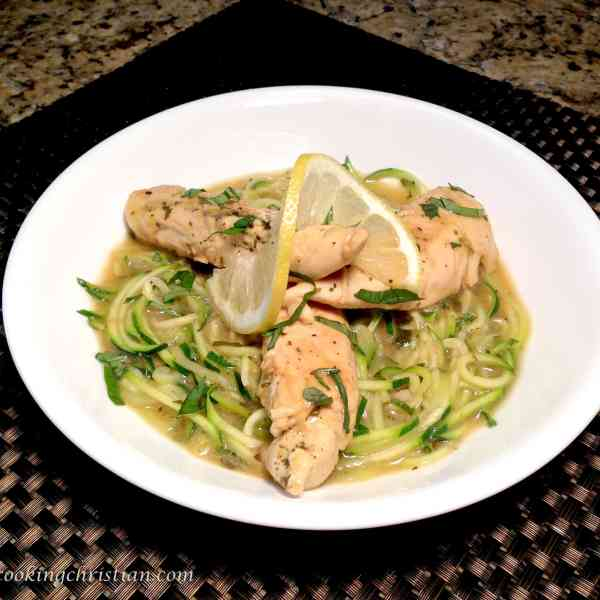 lemon chicken zoodles keto low carb gluten free